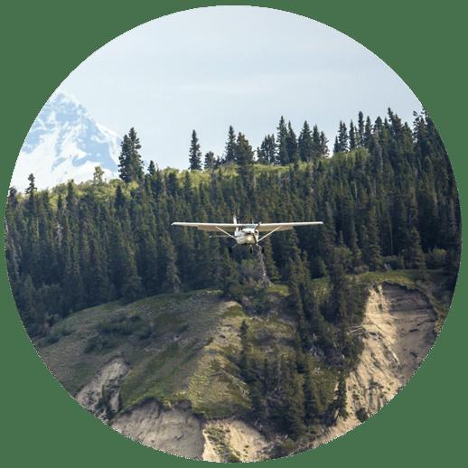 Fixed-wing plane in Alaska